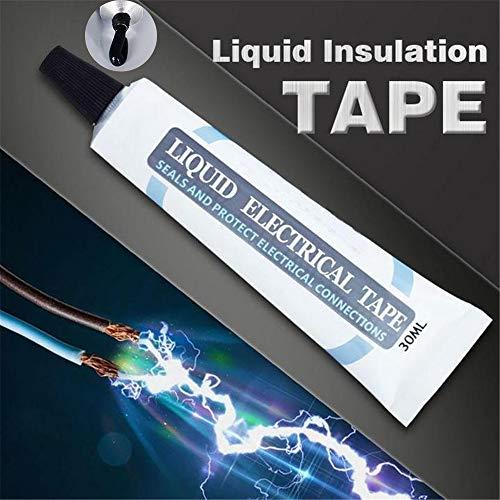 Liquid Insulation Tape, Waterproof and Flame-retardant Temperature-resistant Electrical Circuit Board Joint Tape, Repair Mobile Phone Data Line Repair Sealing Tape 1pcs Black