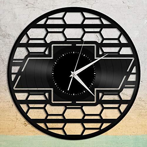 Reloj de pared de vinilo Chevrolet, regalo único para los amantes del coche, decoración de la habitación del hogar, diseño vintage, oficina, bar, sala de estar, decoración del hogar