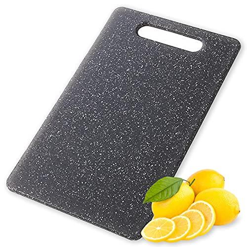EMSMIL Tabla para Picar Plástico Pequeña 30 x 20 x 0,8 cm Tablas para Cortar Cocina con Mango Sin BPA Apta para Lavavajillas para Hogar Alimentos Carne Verduras Pan y Fruta
