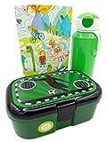 Lutz Mauder - Fiambrera con diseño de balón de fútbol y Mepal, botella de 400 ml, color verde