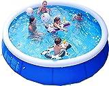 buzhidao Flotadores Inflable Familia Piscina para niños y piscinas para adultos adecuados para bebés mayores de 3 años Jardín al aire libre Agua de verano Party240x63cm