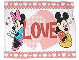 Mickey et Minnie Couverture ultra douce en peluche Cadeau idéal pour les meilleurs amis, les couples et la famille Taille 152,4 x 127 cm