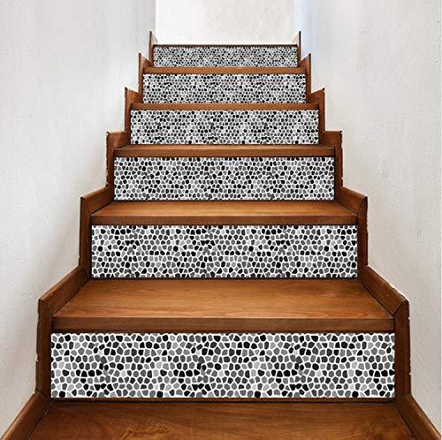 Escaleras Pegatinas Mural Estilo De Arabia Mosaico Azulejo Escaleras Decoración Etiqueta Engomada Del Arte 3D Pegatinas De Pared Decoración Para El Hogar 6 Unids/Set 18 X 100 cm