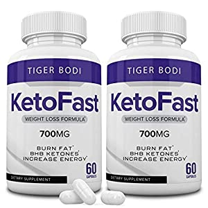 (2 Pack) Keto Fast Diet Pills, Keto Fast 700 mg Burn Capsules - Pure Keto Fast Supplement for Energy - BHB Ultra Boost… 2