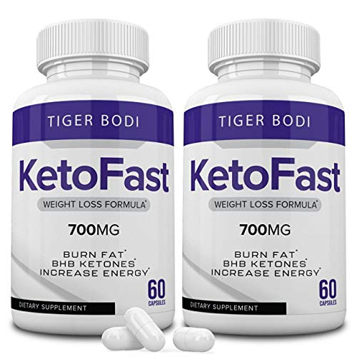 (2 Pack) Keto Fast Diet Pills, Keto Fast 700 mg Burn Capsules - Pure Keto Fast Supplement for Energy - BHB Ultra Boost Exogenous Ketones for Rapid Ketosis for Men Women