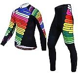 AFDLT Hombre Ciclismo Chaqueta Set,Verano Aire Libre Manga Larga Camisa,Secado rápido Respirable Deportes Jersey Pantalones,D,XXL