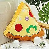 CTDMMJ Happy Food Peluches Figuras Tostada Hamburguesa Pizza Palomitas de maíz Chips Baquetas Decoración Snacks Almohada Cojín Atrezzo 7 Tipos-Pizza S_China
