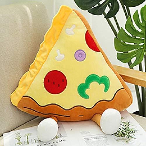 CTDMMJ Happy Food Plüschtierfiguren Toast Hamburger Pizza Popcorn Chips Drumstick Dekor Snacks Kissen Kissen Requisiten 7 Arten-Pizza M_China