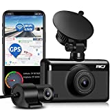Dash Cam Front and Rear 1440P & 1080P 【Built with GPS & WIFI】Dual
