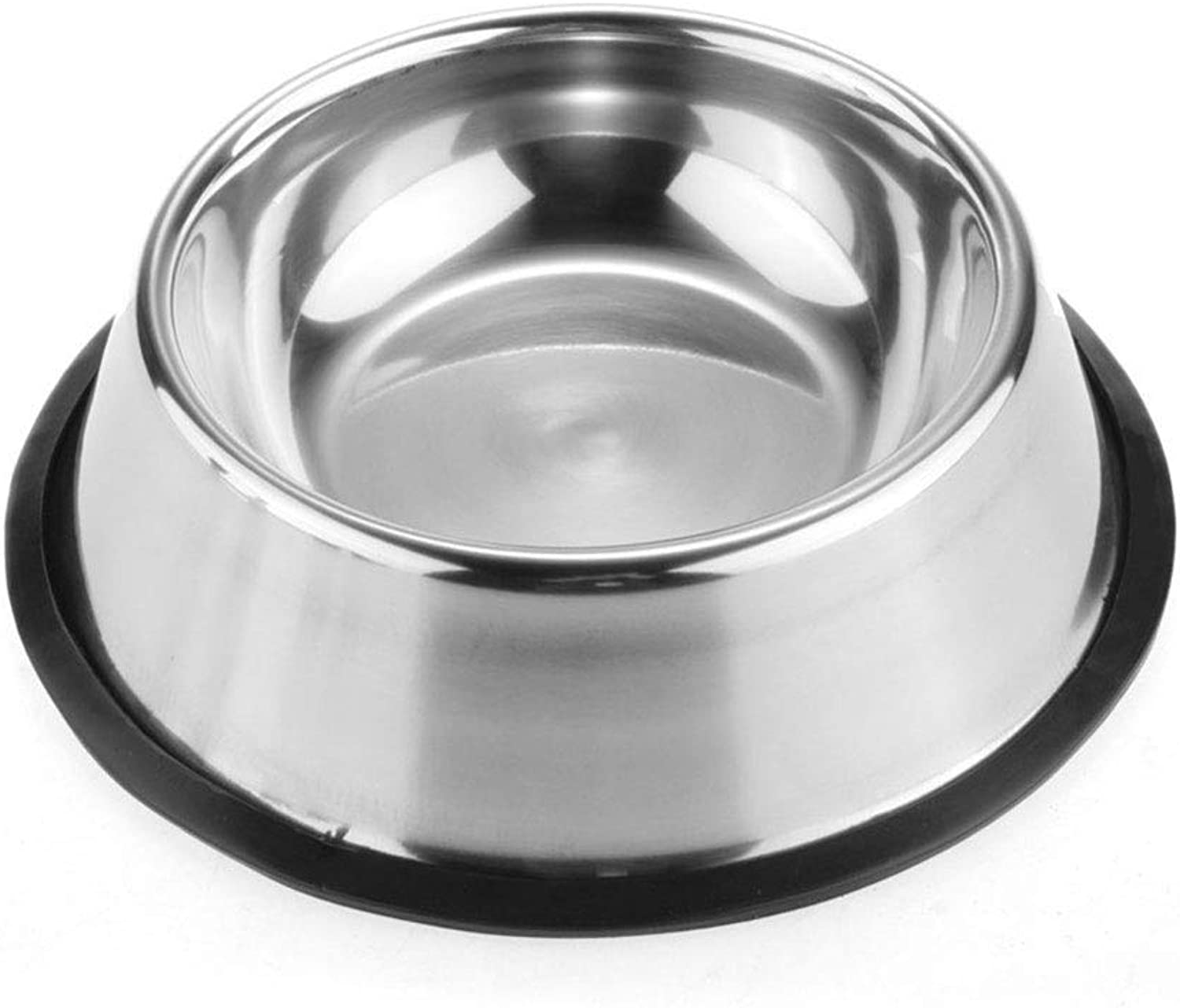 Pet Dog Cat Bowl Puppy Kitten Stainless Steel Bowls Anti Slip Cats Travel Feeding Feeder Food and Water Dish Bowl Pet Bowls (color   Silver, Size   15cm)