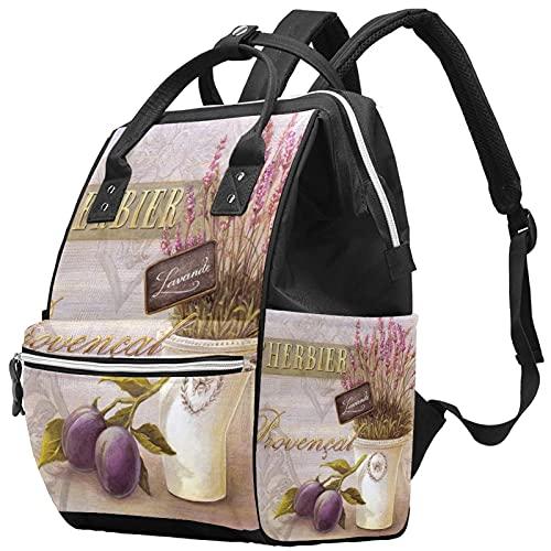 WJJSXKA Mochilas Bolsa de pañales Laptop Notebook Mochila de viaje Senderismo Daypack para Mujeres Hombres - Art Vintage Purple Lavender