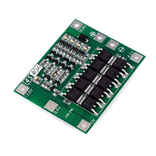 ACEHE Tablero de protección de batería de Litio, Hw-296 4 Cuerdas 14.8V 16.8V 18650 Tablero de protección de batería de Litio con Taladro de Arranque equilibrado 41A Actual