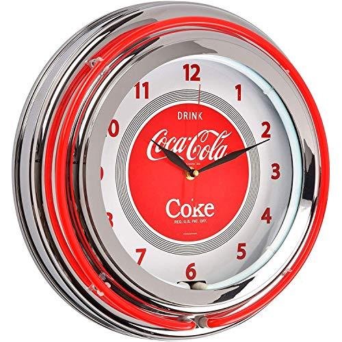 Le Studio Wanduhr Coca Cola, Weiß/Rot