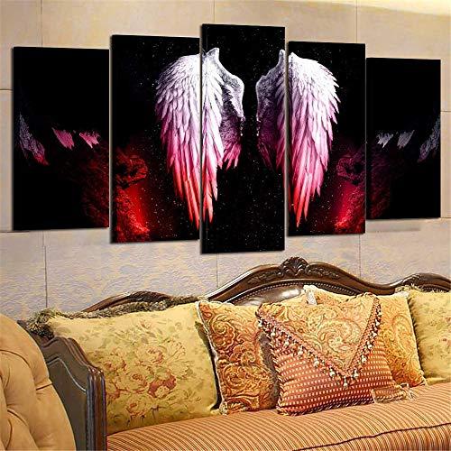 Lienzo De Arte De Pared 5 Imágenes Lucifer Alas De Ángel Fotos Sala De Estar Carteles De Casa Moderna Bta-22
