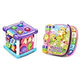 VTech Busy Learners Activity Cube, Purple & Musical Rhymes Book, Pink