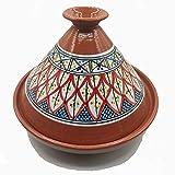 Tajine Pentola Terracotta Piatto Etnico Marocchino Tunisino XL 32cm 2910201103
