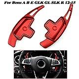 rpbll Extensión de Paleta de Cambio de Volante Rojo para Mercedes A B C E ML GL CLA GLA GLK SL SLK Clase Benz W176 W246 W212 W204-CHINA