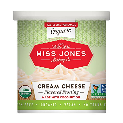 Miss Jones Baking Organic Buttercream Frosting, Perfect for Icing and Decorating, Vegan-Friendly: Cream Cheese (Pack of 3)