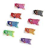 8 Stück Japanische Windsock Windspiel Koi Nobori, Karpfen Flagge, 50cm - 150cm, Farben und Größe Auswählbar - 15 cm