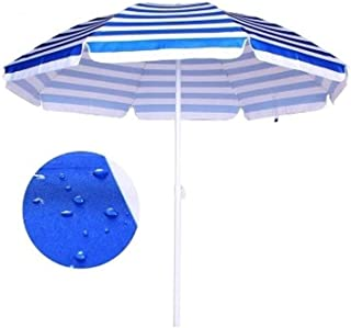 Sunshade Canopies Outdoor Waterproof and U-v-Proof Large Beach Sunshade Garden Patio Fishing Umbrella (Color : Red Stripe, Size : 2 * 2M)