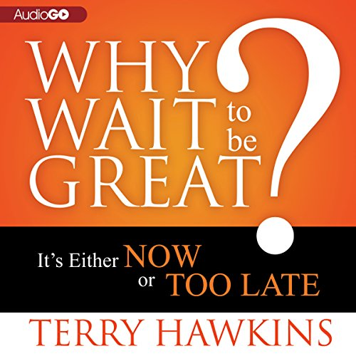 Why Wait to Be Great? audiobook cover art