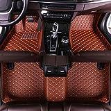 Luomp Custom Car Tapetes de Piso, Coche Impermeable Antideslizante de la Cubierta Completa de Cuero de tapetes para Subaru Tribeca 2007-2011, Brown, Subaru Tribeca 2007-2011
