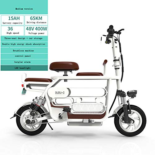 Diseño de Tres Asientos de Mini Bicicleta para Adultos con Canasta de...