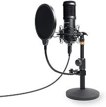 USB-Mikrofon Kondensatormikrofon für PC//Laptop Aufnahmemikrofon Kardioid Studio
