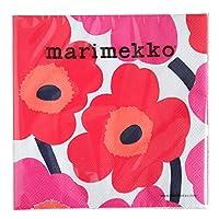 marimekko UNIKKO ペーパーナプキン 33cm/ホワイト×レッド 75【52610】マリメッコ ウニッコ