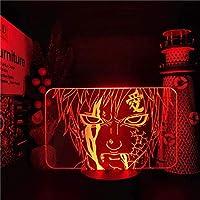 GMYXSW 3D夜ライト GAARAアニメランプ3D LEDナイトライトカラーシュマンドランラの家の装飾クリスマスギフト