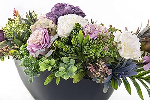 Grabschmuck Blumengesteck Grabgesteck Friedhof Künstliche Blumen Rosen, Eustomas, Hortensien