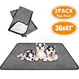SCENEREAL Washable Pee Pads for Dogs Non Slip 2 Pack, Fast Absorbent Pet Potty Training Pads, Reusable Leakproof Waterpoof Puppy Whelphing Mat Quick Dry for Floor/Dog Crate/Playpen/Kennel