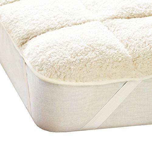 Olivia Rocco Teddy Mattress Topper Enhancer, Reversible, Single Double King Super King Size (Double)
