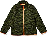 Amazon Essentials Kids Boys Polar Fleece Lined Sherpa Full-Zip Jackets, Camo Print, Large