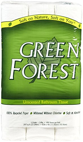 Green Forest 12-Roll Bathroom Tissue, White