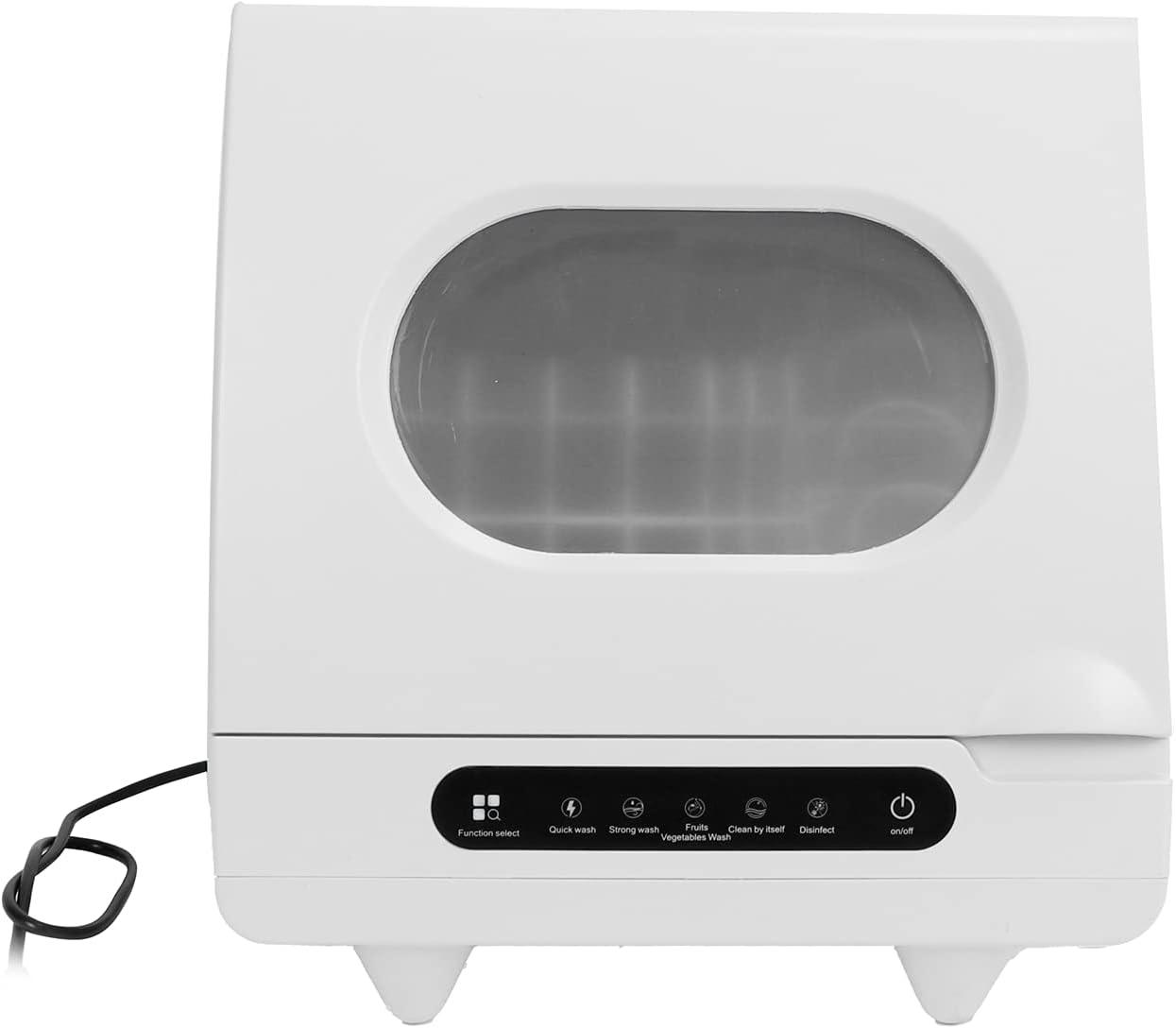 Mini lavavajillas, 40 x 40 x 40 cm Mini mesa Lavavajillas, 5 funciones grandes, 72 ℃ Limpieza de agua caliente, máximo 2-6 juegos de vajilla, 2-3 litros de agua, para apartamentos, botes(220V EU)