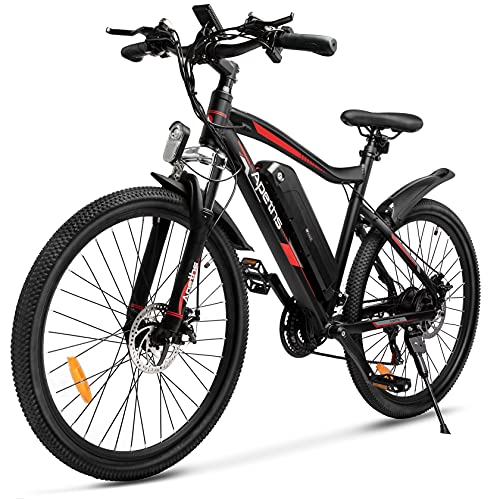 Electric Bike, 26''Electric Mountain Bike for Adults & Teens, 350W/10.4Ah Ebike Electric Bicycle, 20 MPH Adults Ebike with Removable Battery, Electric...