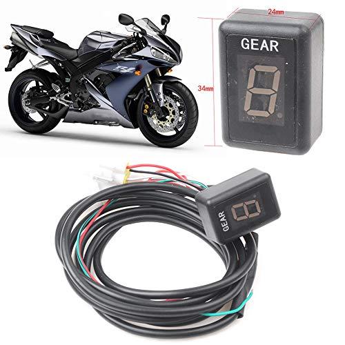 GZYF Indicador digital de velocidad de la motocicleta de 6 velocidades sensores de la palanca de cambios pantalla de visualización de la caja de cambios para R1 R6 Fz6 Fzs600