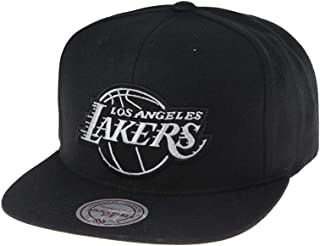 watch 77078 18361 Mitchell   Ness Los Angeles Lakers 18155 Wool Solid Black White Snapback  cap Kappe Basecap