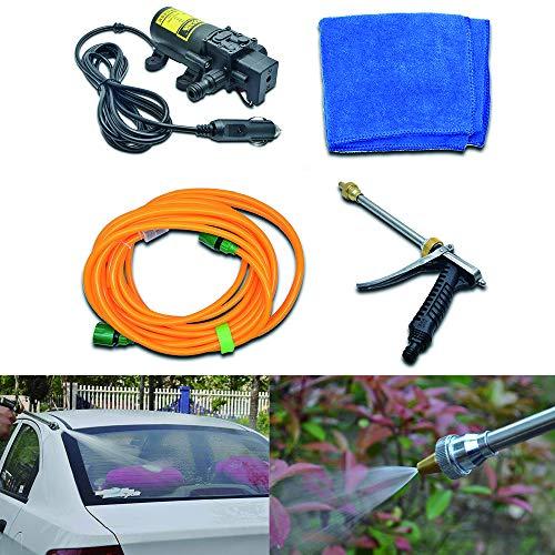 Maso - Kit de lavado eléctrico a presión para coche, 12 V, 80 W, bomba de agua, boquilla para coche, motocicleta, hogar, jardín, limpieza
