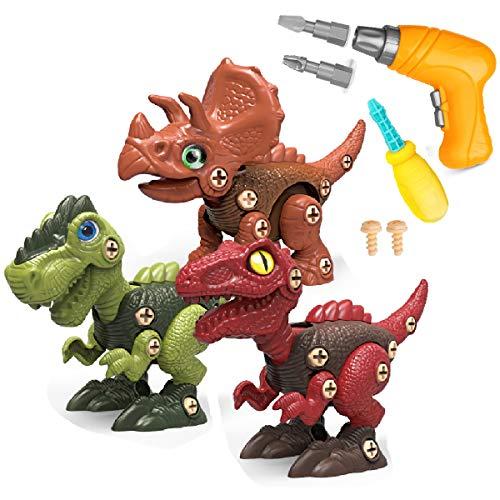 Funk Doggie 恐竜 おもちゃ 大工さんごっこおもちゃ電動ドリルおもちゃ 組み立ておもちゃ DIY恐竜立体パズル 誕生日プレゼント 入園お祝い 贈り物 STEM知育玩具