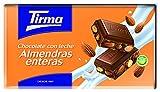 Tirma chocolate con leche y con almendras enteras - 2 paquetes de 5 unidades x 150 gr