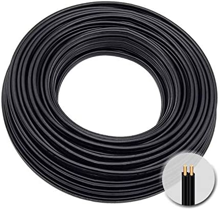Extension Electrical Wire18 2 SPT 2 Bulk Lamp Cord 300 Volt 18 Gauge 100 feet Spool Black UL product image