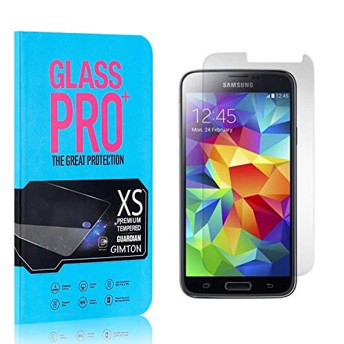 GIMTON Displayschutzfolie für Galaxy S5, 9H Härte HD Schutzfolie aus Gehärtetem Glas für Samsung Galaxy S5, Blasenfrei, Anti Fingerabdruck, 4 Stück