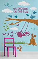 Oopsy Daisy Peel and Place Swinging in The Sun by Alice Feagan, 54 by 60-Inch by Oopsy Daisy