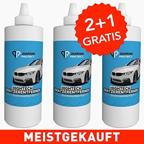 DiamondProtect - Kratzerentferner Autolack | Autopolitur Kratzer entfernen - Auto Kratzer Entferner - Car Scratch Remover - Autopflege (3 Flaschen)