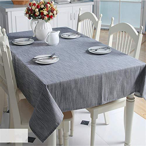DJUX Mantel de Lino de algodón con Flecos Mantel Rectangular sin Arrugas paño Lavable Usado para Comedor de Cocina 90x90cm