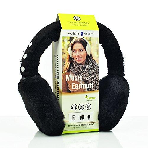 Sharon LEICKE Music Bluetooth Ohrenschützer | TÜV schadstoffgeprüft | Funkkopfhörer Stereo-Lautsprecher-Mikrofon Wireless Earmuff | Smartphone kompatibel | Schwarz