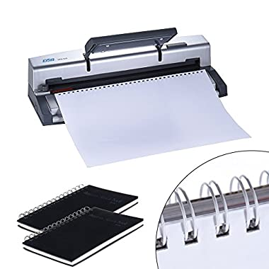 Aibecy DSB WR-60 A4 Paper Puncher + Binder Punch Wire Binding Machine 34/32 Holes, 6 Sheets Punching, 45 Sheets Binding, Support 6.4mm Wire