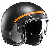 Casco Aperto Moto Hjc Fg-70 Modik Arancio-Nero (M , Nero)